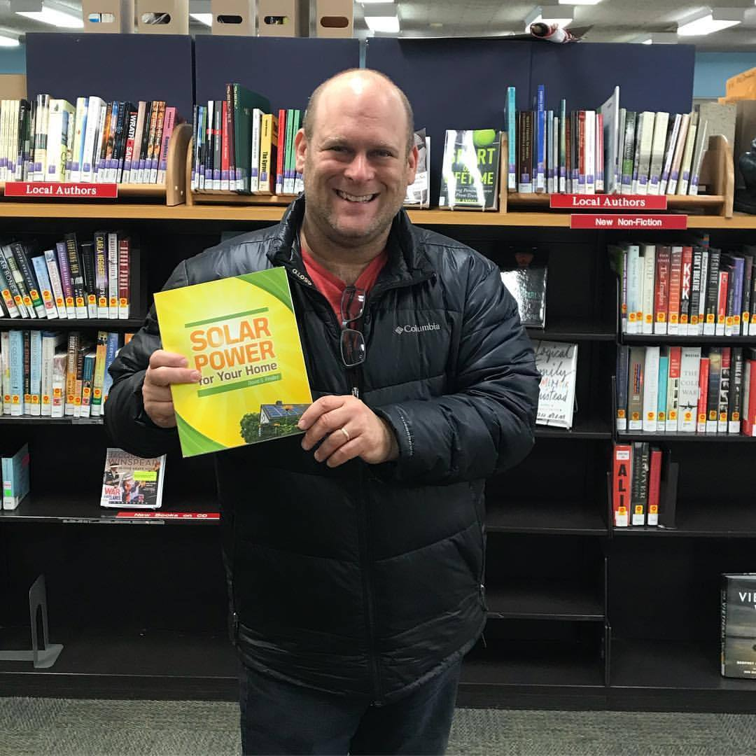 Somers Public Library thank you for allowing me to give my book Solar Power For Your Home. You kmow my dad who passed a year and a half plus ago lived in Somers so this means the world to me giving my book here!  Check out  http://www.somerslibrary.org  (at Somers Public Library)
