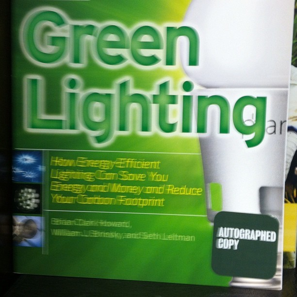 Signed a Copy of Green Lighting book in Barnes and Noble      Signed a copy of my book Green Lighting In Barnes and Noble