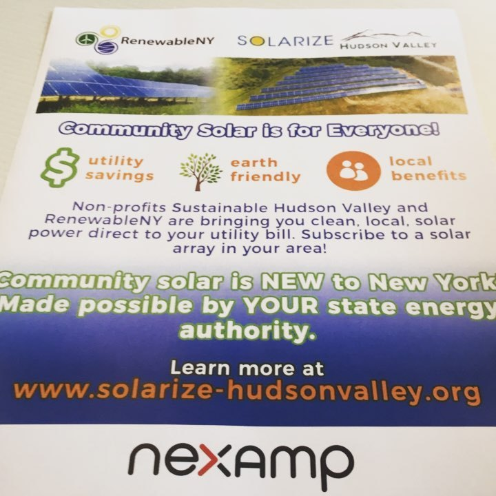 Solarize Hudson Valley is pleased to announce Community Solar by Nexamp. Go to  http://www.solarize-hudsonvalley.org  eligible to START NOW. Reserve your place in Central Hudson and Orange and Rockland utilities. Limited availability #firstcomefirstserve #solarizehudsonvalley  (at Vassar College)