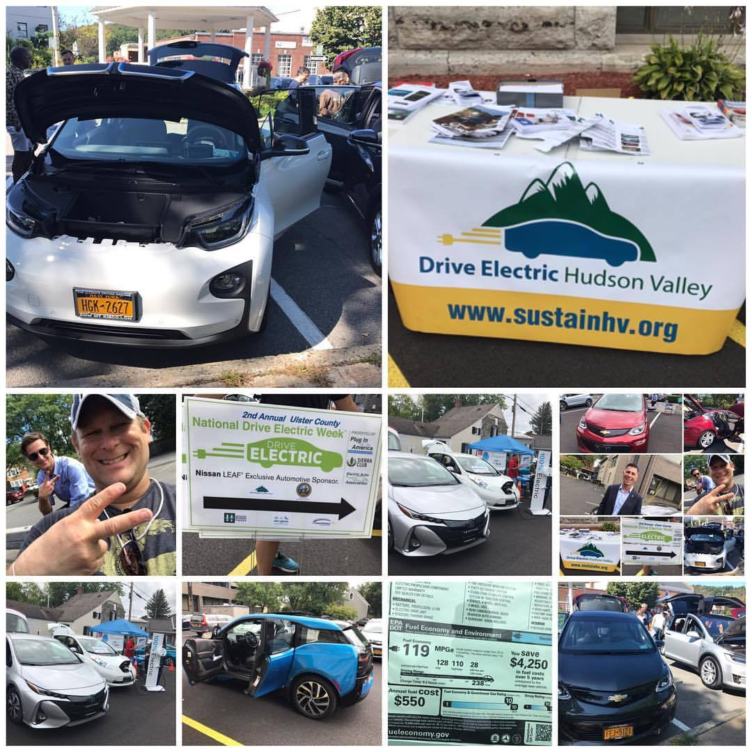 Recap of Drive Electric Day. Pleasantville and Kingston today. Poughkeepsie next week. That's how we do it in the #hudsonvalley for #driveelectrichudsonvalley (at Kingston, New York)