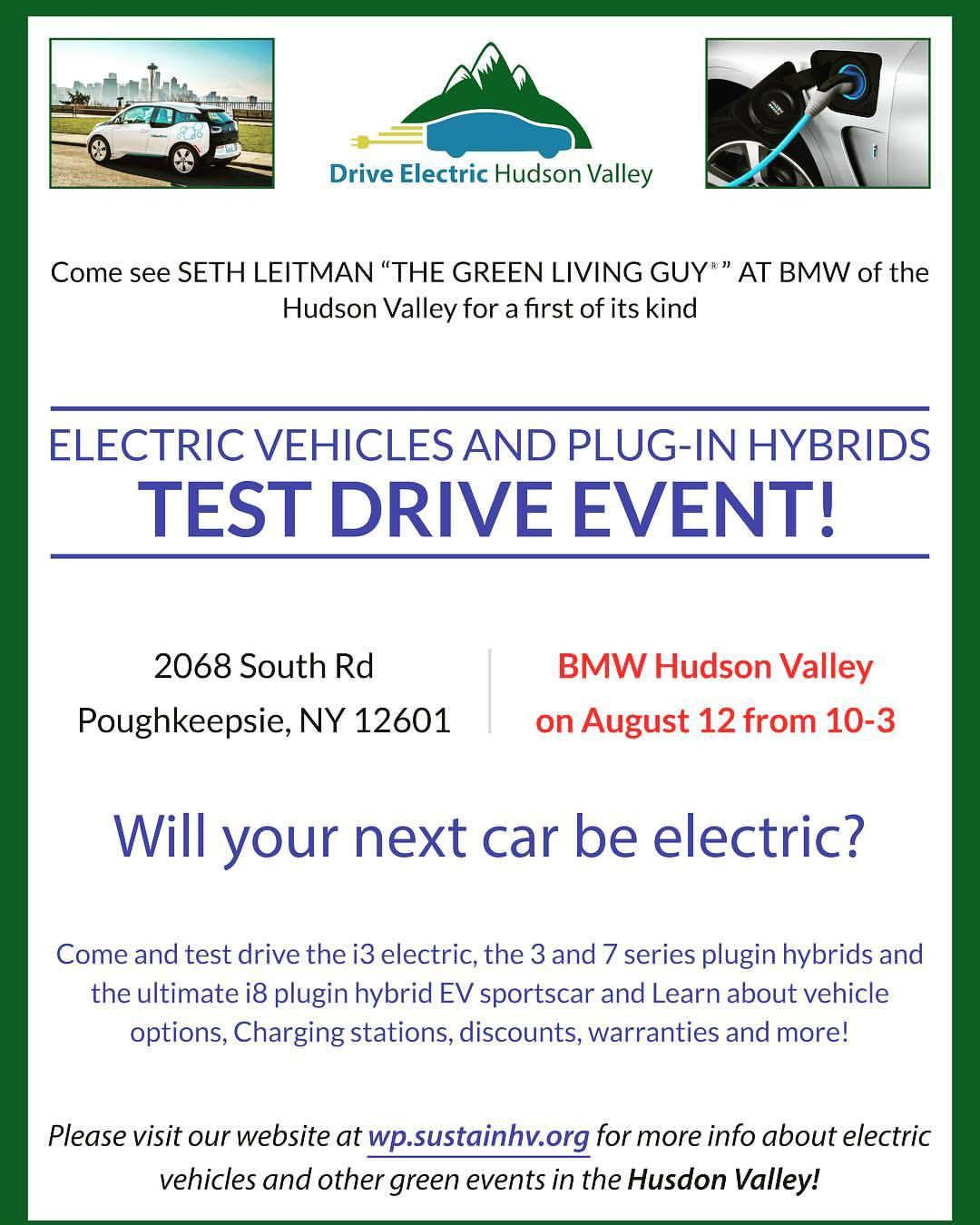 Very excited for this #driveelectrichudsonvalley @bmwi dealership event with @bmwusa #hudsonvalley on August 12 from 10-3. The #i8 will be there besides the 3 and 7 series Plugin hybrids, i3 electric too. Expect savings and rebates galore folks. #rebates #bmwi8 #bmwm3 #bmw7 #bmwhudsonvalley #bmwhybrid #ny #newyork #poughkeepsieny #dutchesscounty #fishkillny  (at BMW of the Hudson Valley)