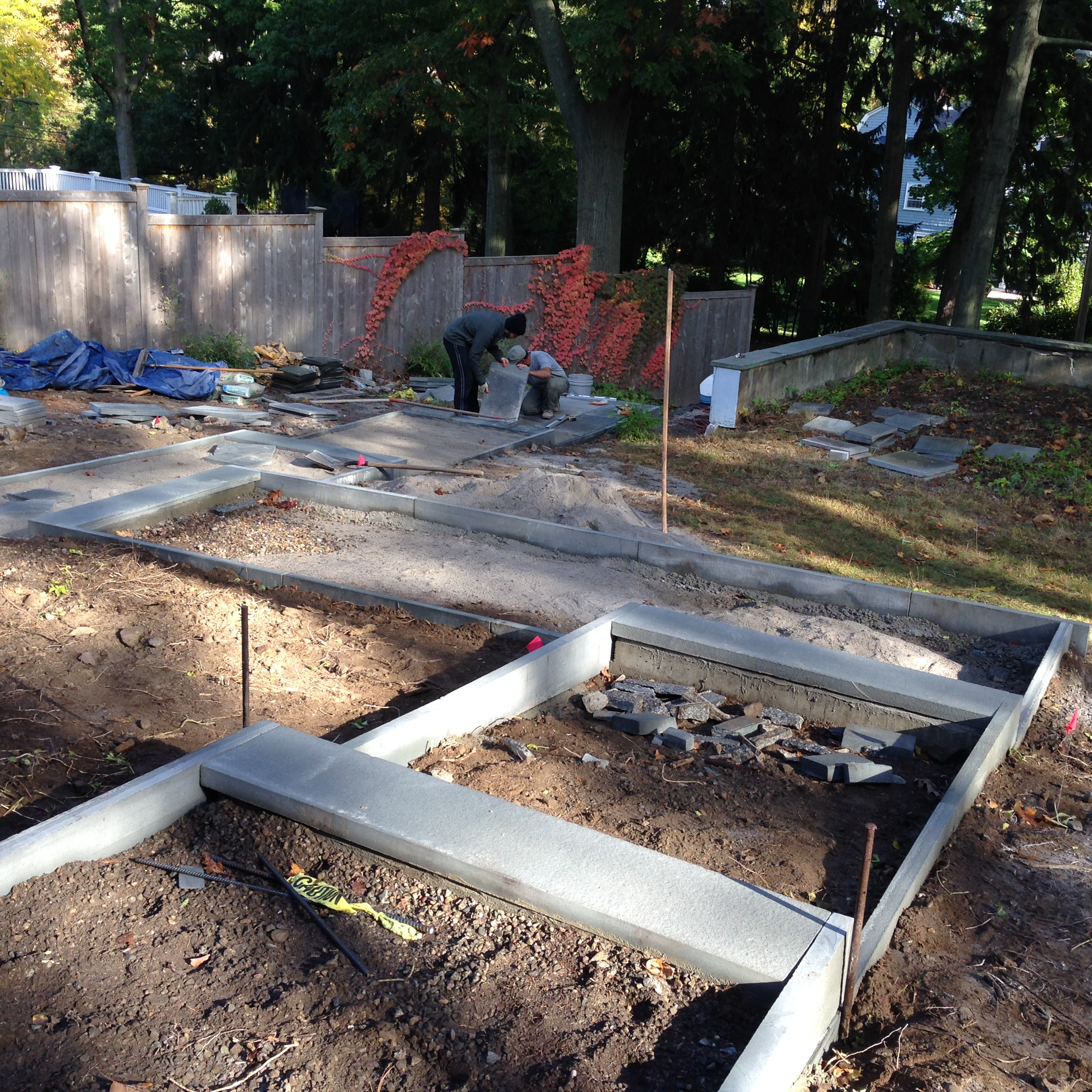 Bluestone was turned on edge to tie the walkway to the home's modern roots.