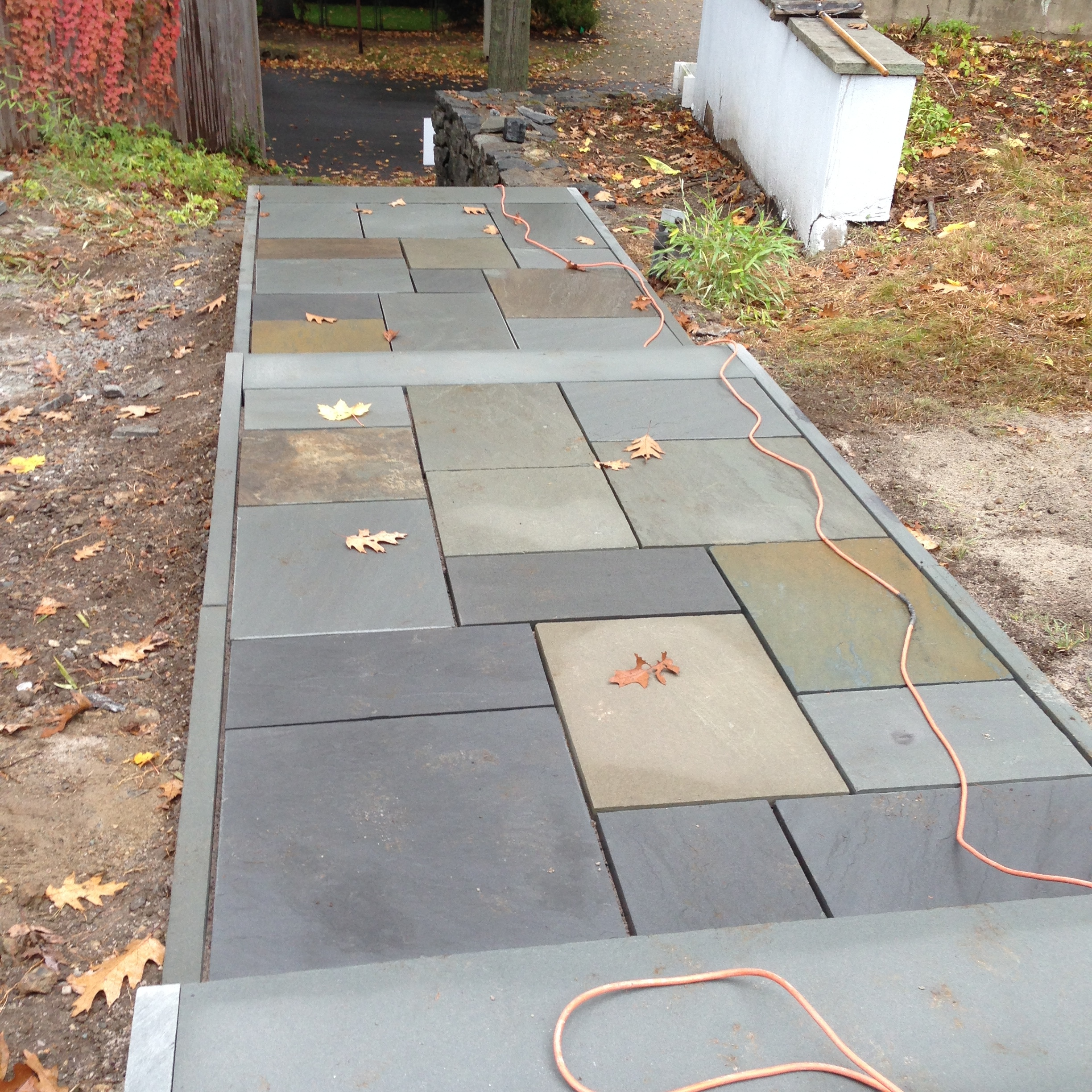 Polymeric sand will be added to seal the joints. MORE TO COME!