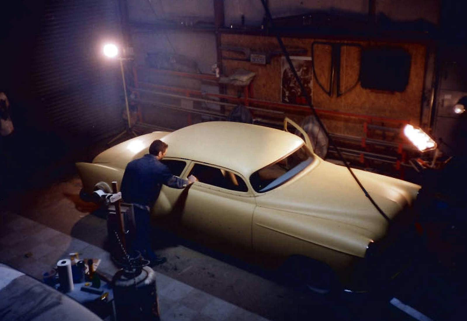 Working on the 1953 Chevy, early 1990's
