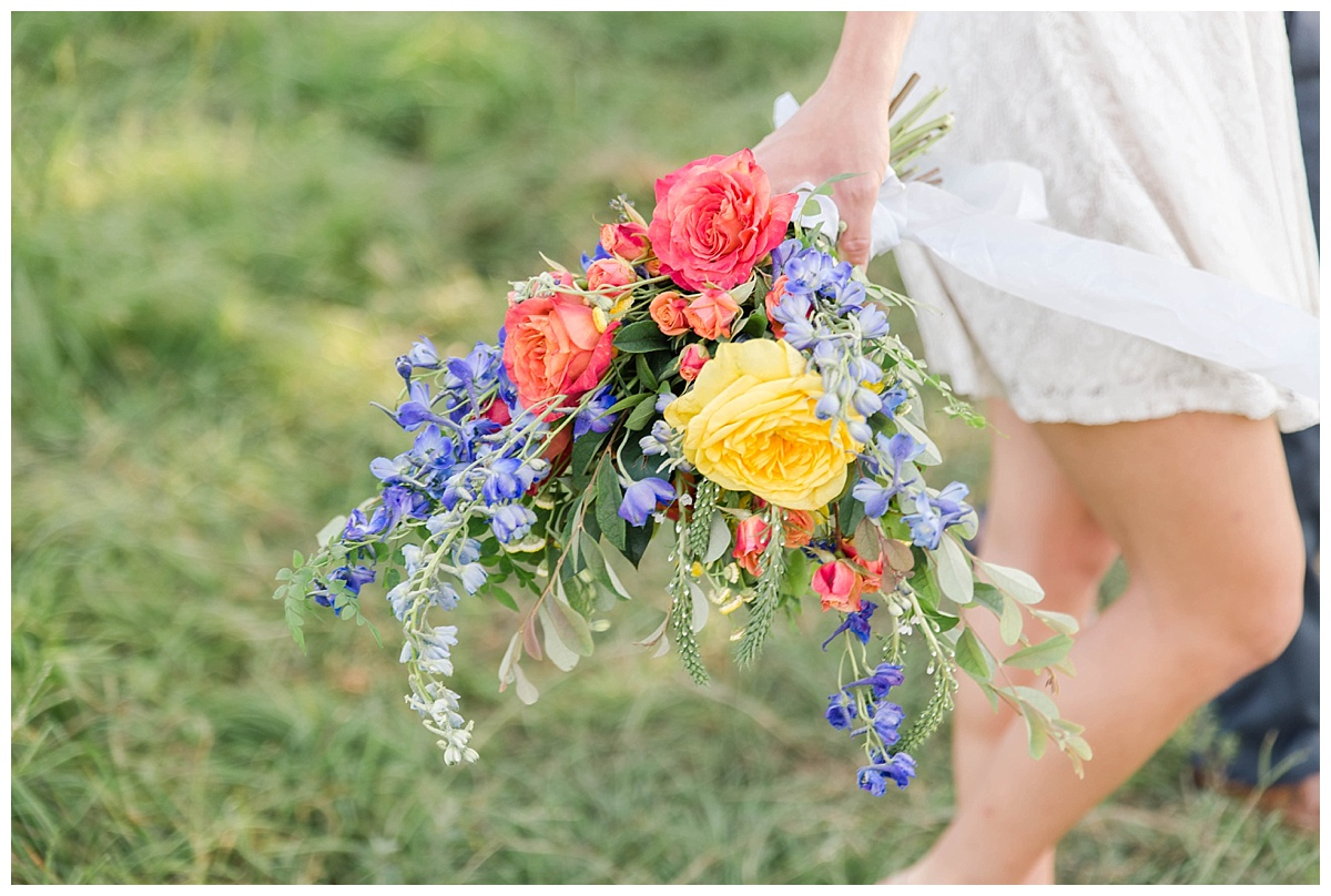 summer wedding flower bouquet