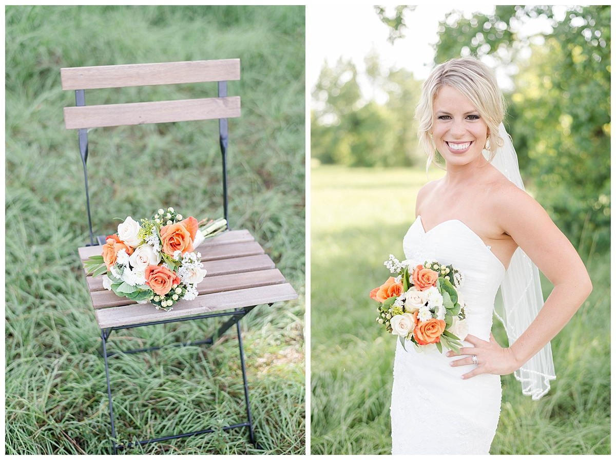 peach summer wedding texas