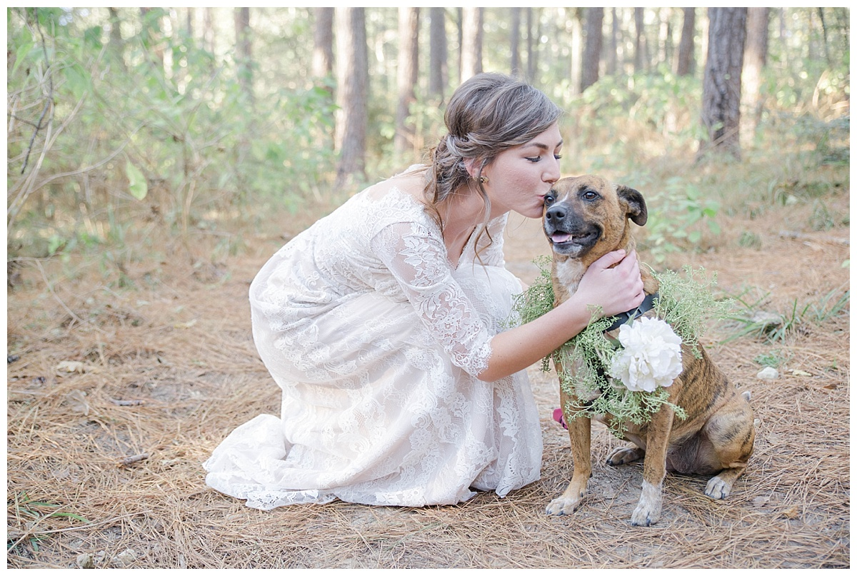Huntsville state park fall wedding with dog