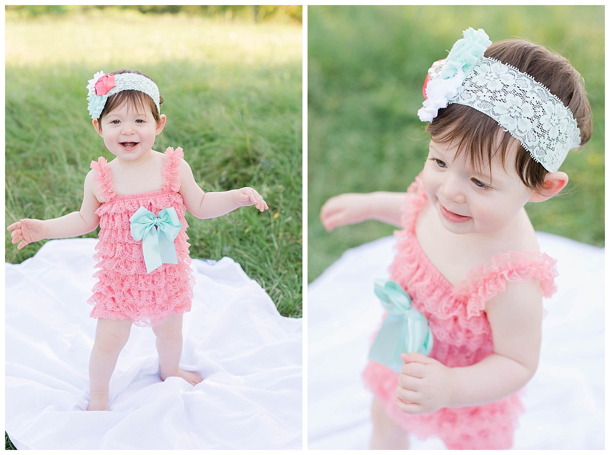 baby girl birthday photos