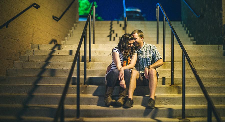 creative night engagement couple