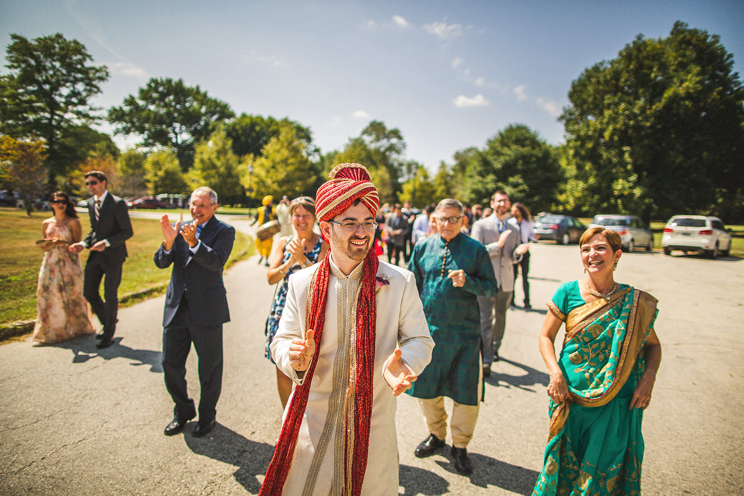 American Swedish Historical Museum Wedding Hindi Groom
