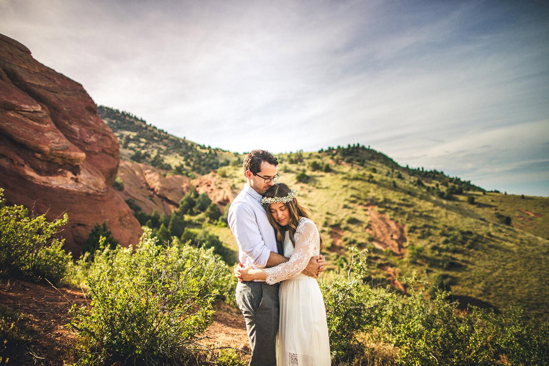 Red Rocks Wedding Bride Groom