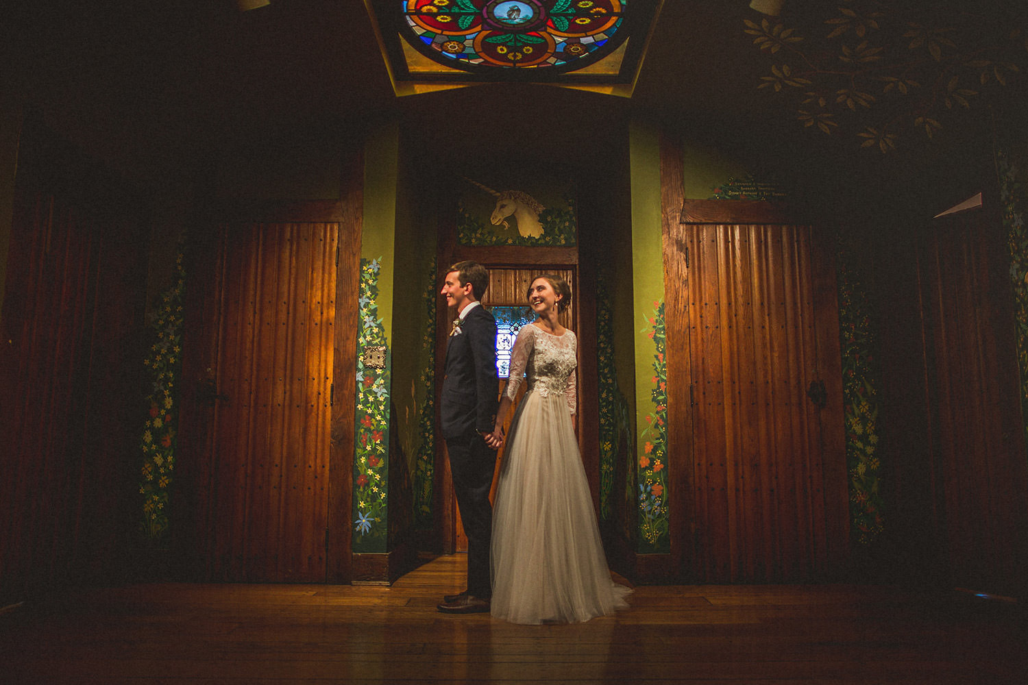 Cloister Castle Wedding First Look