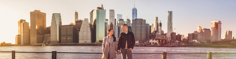 New York City Skyline Engagement session adam Christine