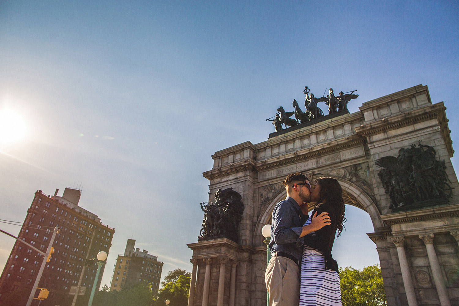 2 Grand Army Plaza Brooklyn Couple.JPG