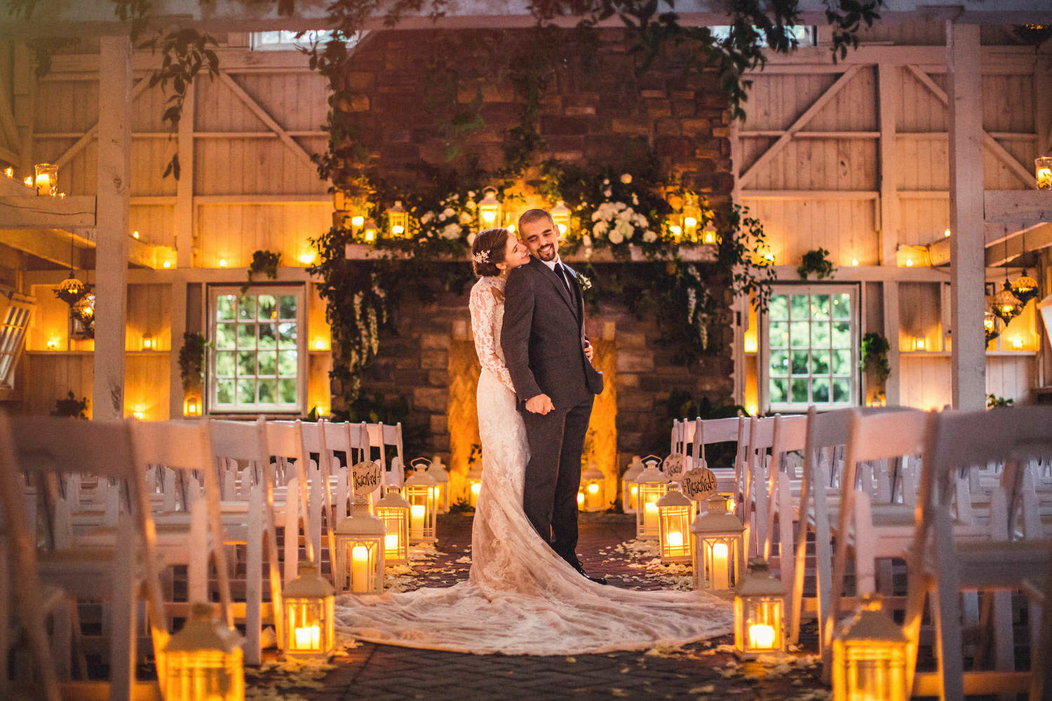 Candlelit wedding ceremony