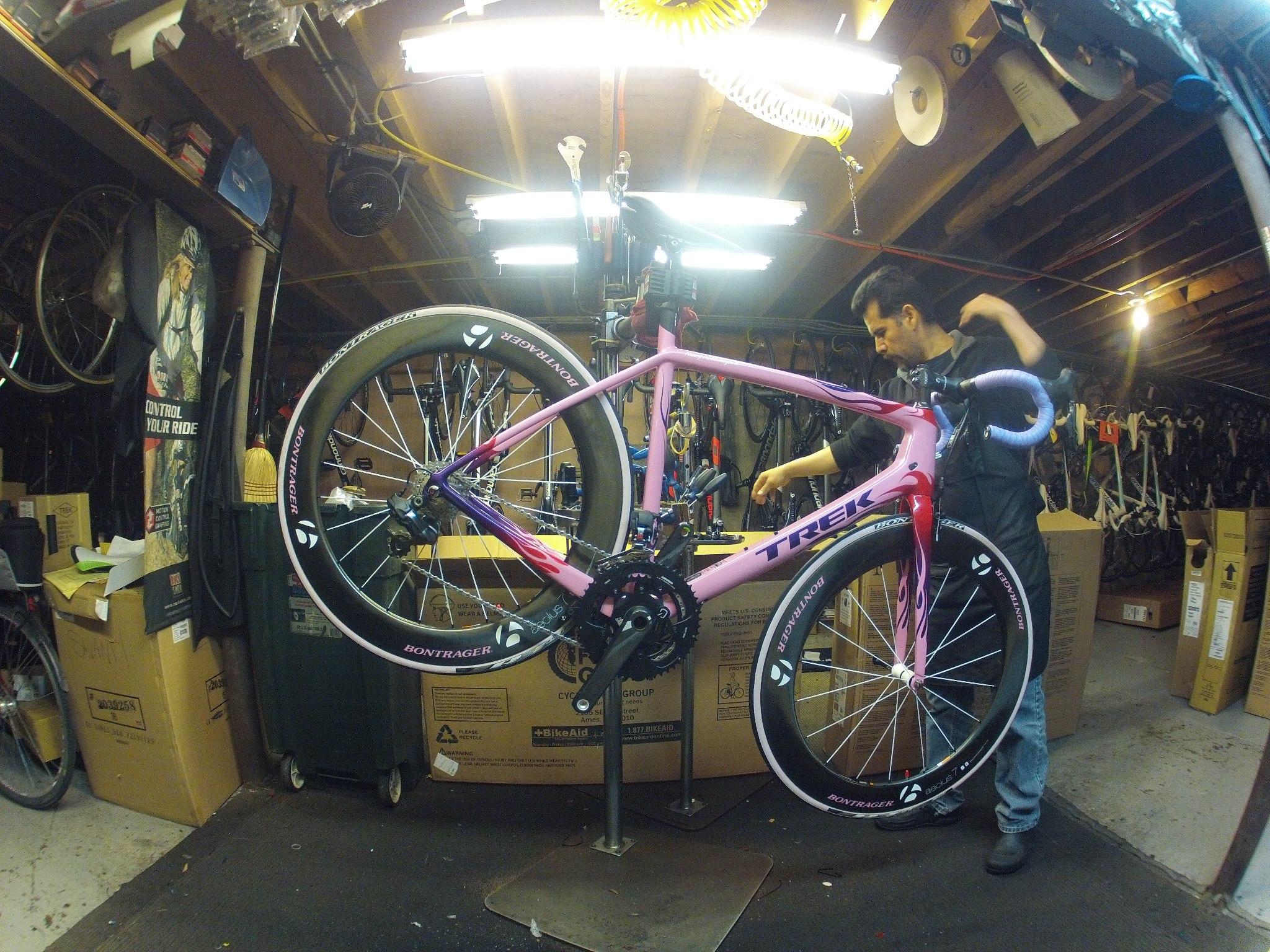 Her Backup Bike, Also Pro
