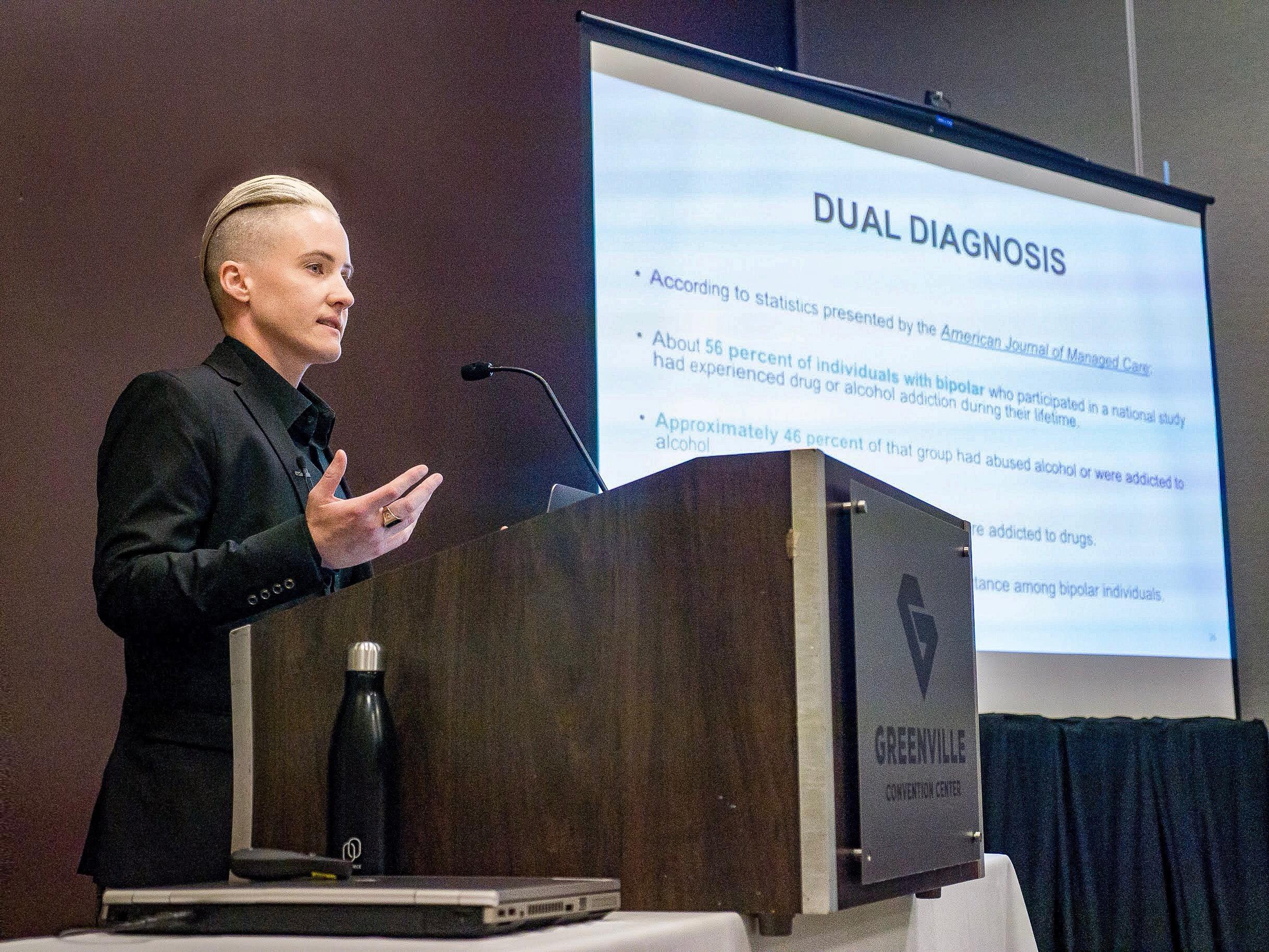 Torri Speaking at the Symposium on Mental Health 2019