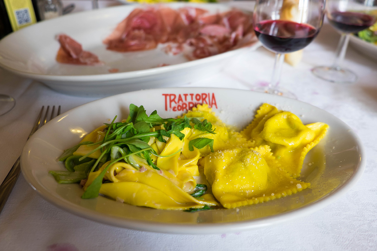 Trattoria Corrieri  - Our first meal after a long flight. This is just one part of our very long meal.