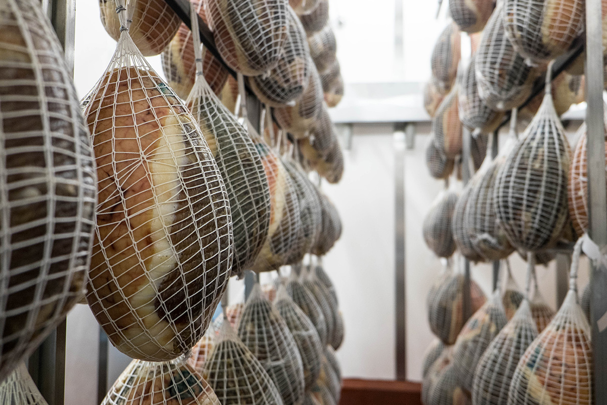Culatello  is made from the back leg of the pig and then only the rear part of the leg, freed from the bone and skin
