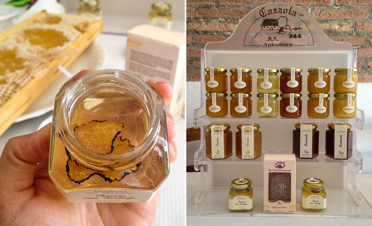 Truffle honey and their line of honey products.