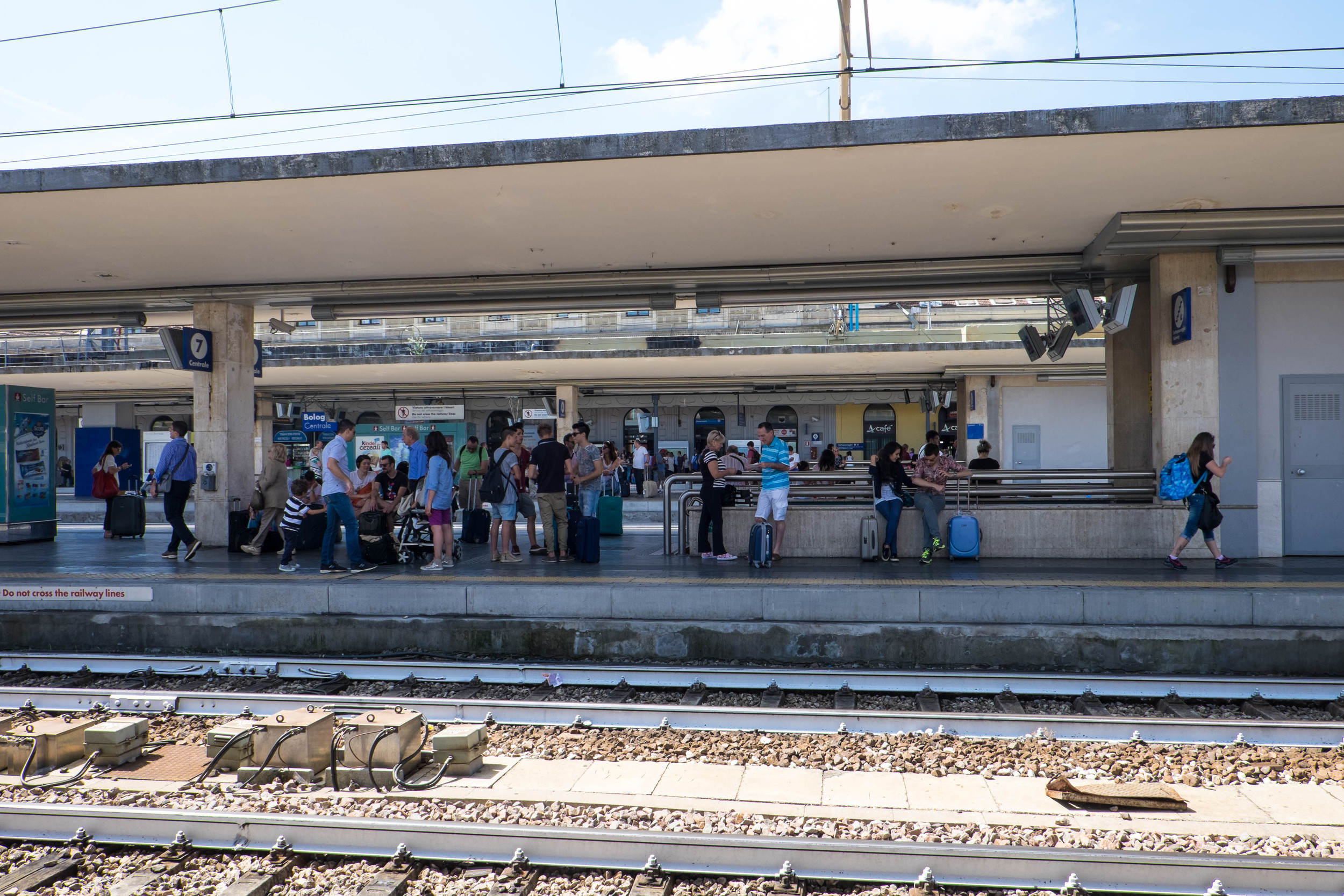 Bologna Train Station. Off to Germany -  click here to see photos from my German adventure.