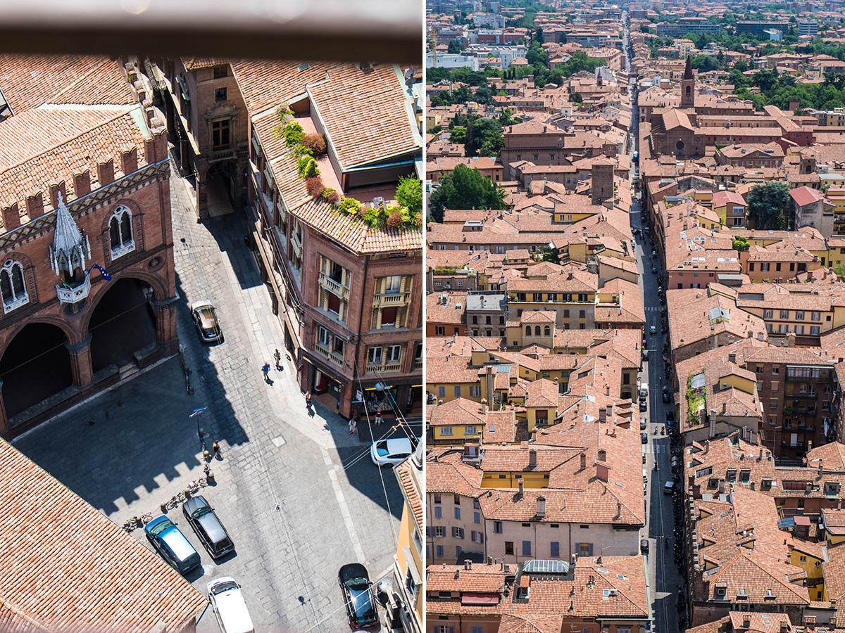 Street lines of Bologna.