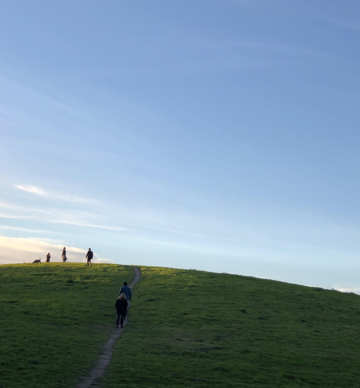 First sunset of 2019 at César E. Chávez Park. (Berkeley, CA)