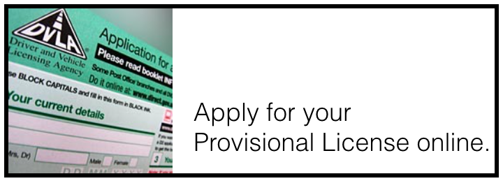 Apply for your provisional license