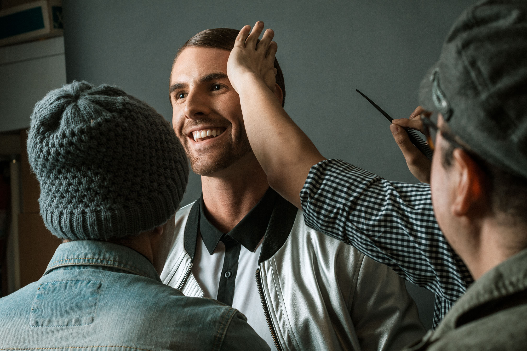 How many creatives does it take to make the model photo ready?