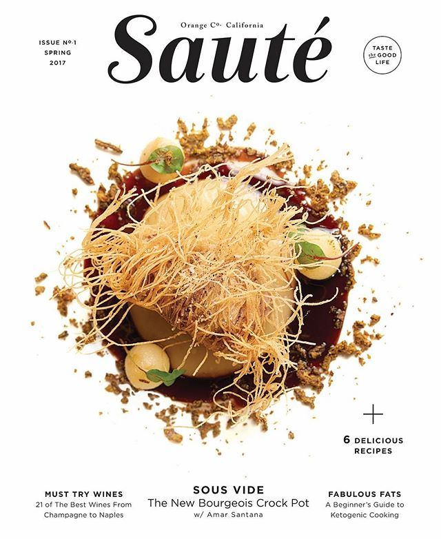 So excited to share my cover editorial for the debut print issue of @sautemagazine featuring sous vide cooked Sweet Bread by #TopChef Amar Santana (@bbamars) of @broadwaybyamarsantana. I love it when I get to work with friends on bringing their creative vision to life. Cheers Michelle and here's to many more issues! I feel so honored that my work has been printed on over a million plus pages since my career started. @bowensflash #food #editorial #photography #losangeles #bowens #nikon @nikonusa #lagunabeach And fantastic design @hoodzpahdesign 😘
