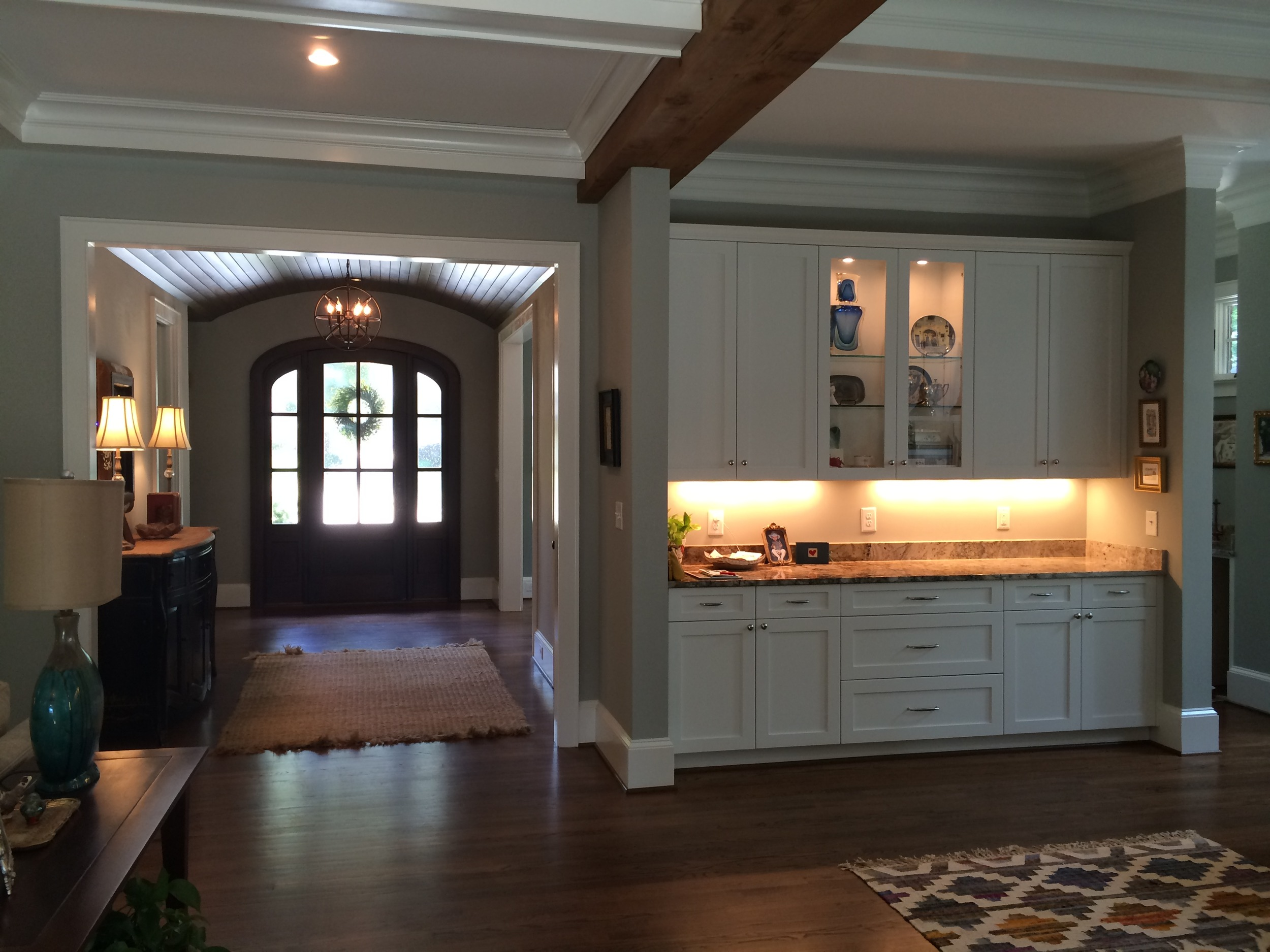 Looking from Living Towards Entry Foyer