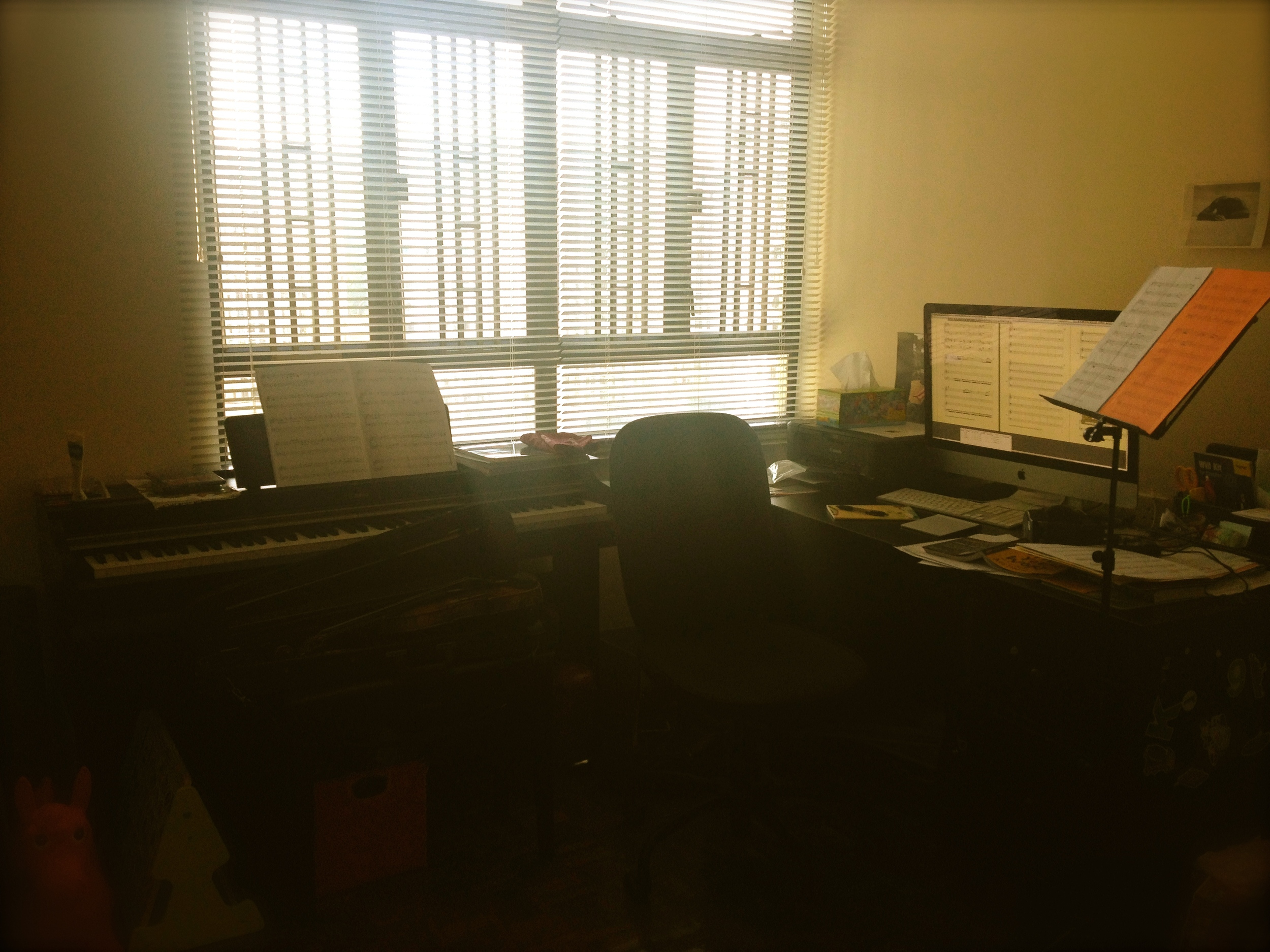 My shared workspace in Hong Kong/communal living area.