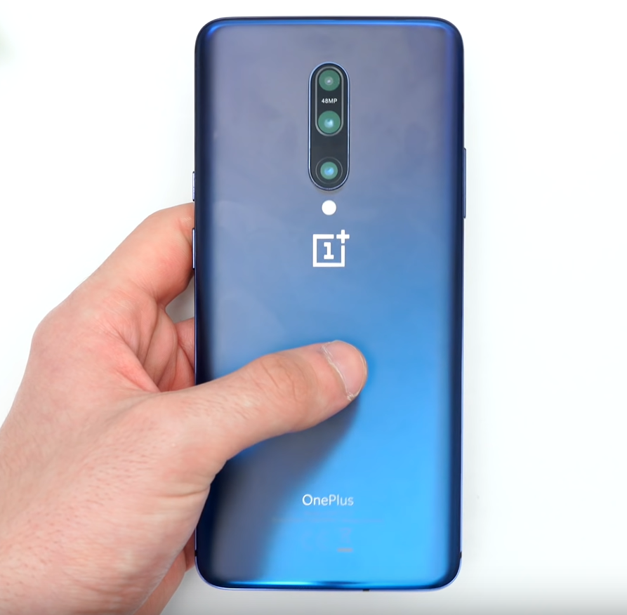 The glass back on the OnePlus 7 Pro