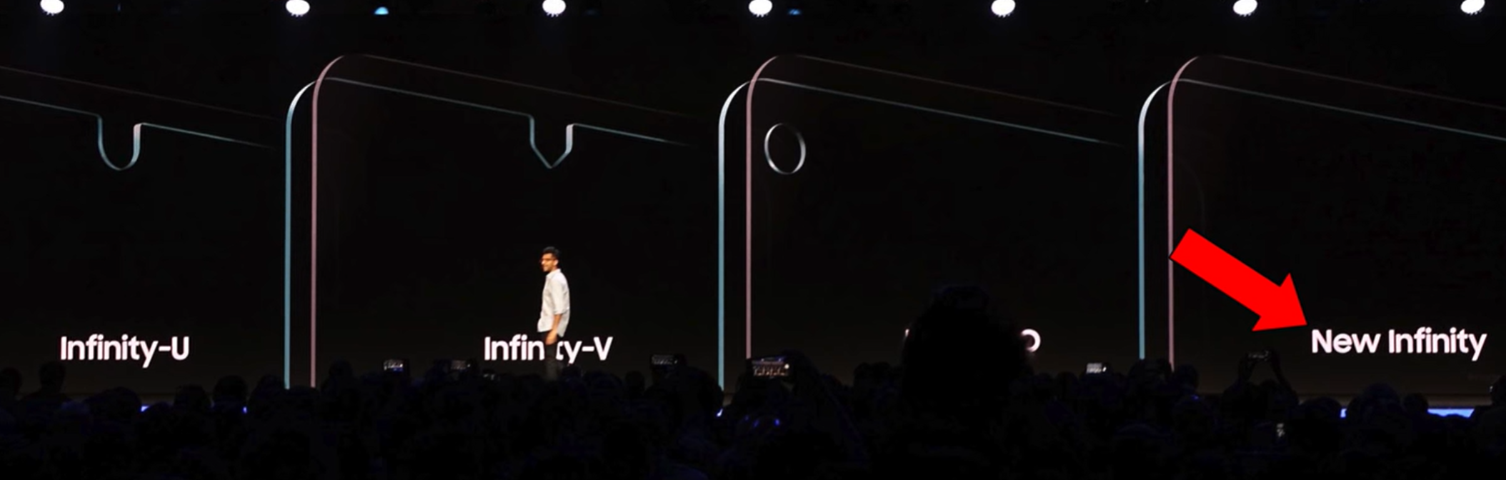 The Infinity Panel is what allows the 7 Pro to have a notch less display