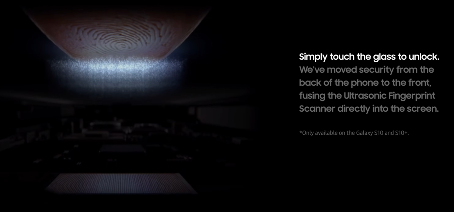 |You can now unlock the S10 and S10+ using the in-display fingerprint reader (Source: Samsung)