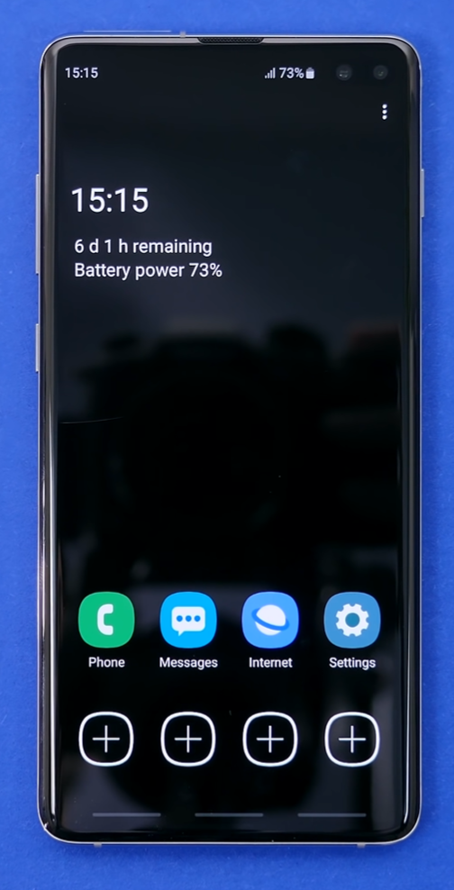 How the UI looks in the 'Ultra Power Saving' mode