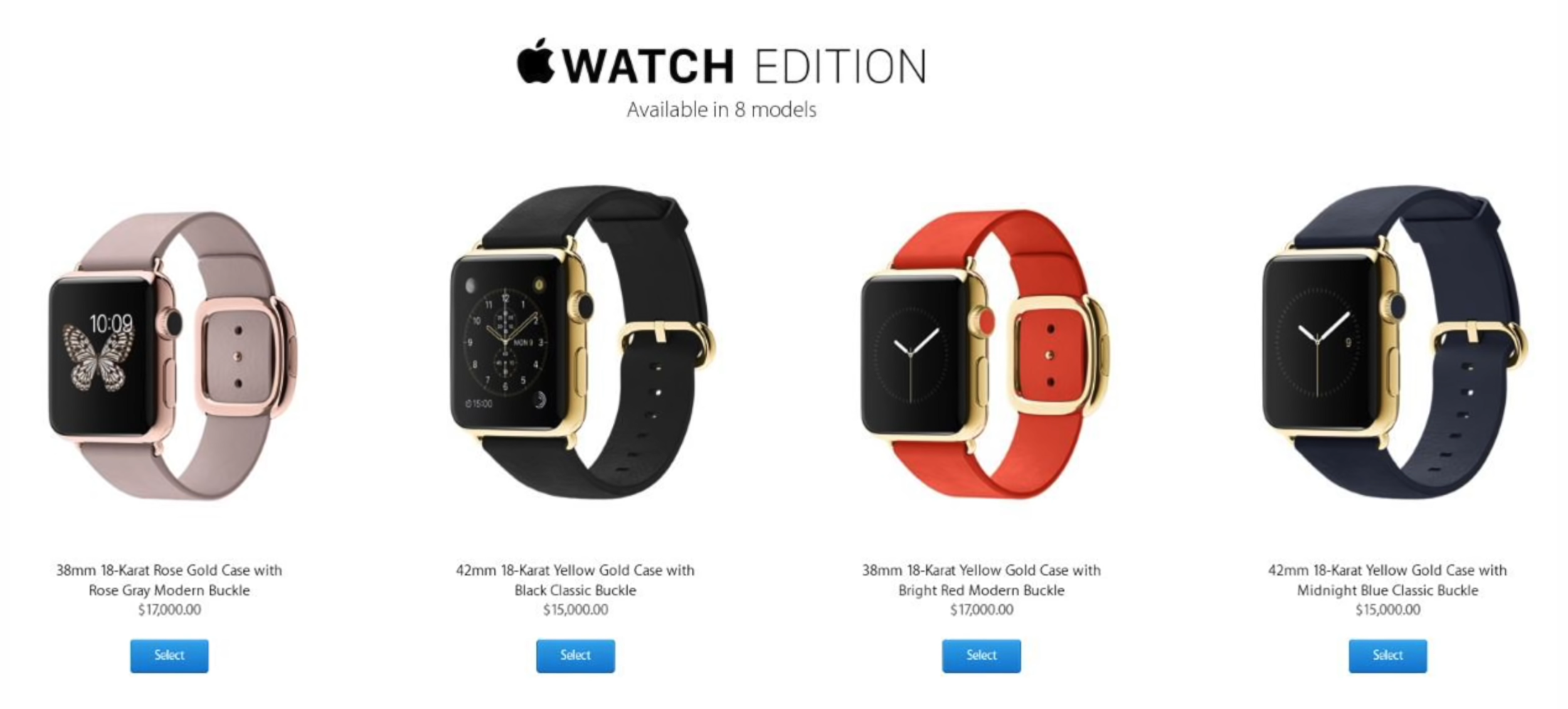 The luxury Apple Watch Edition watches had previously been discontinued due to a lack of sales  (Source: Apple)