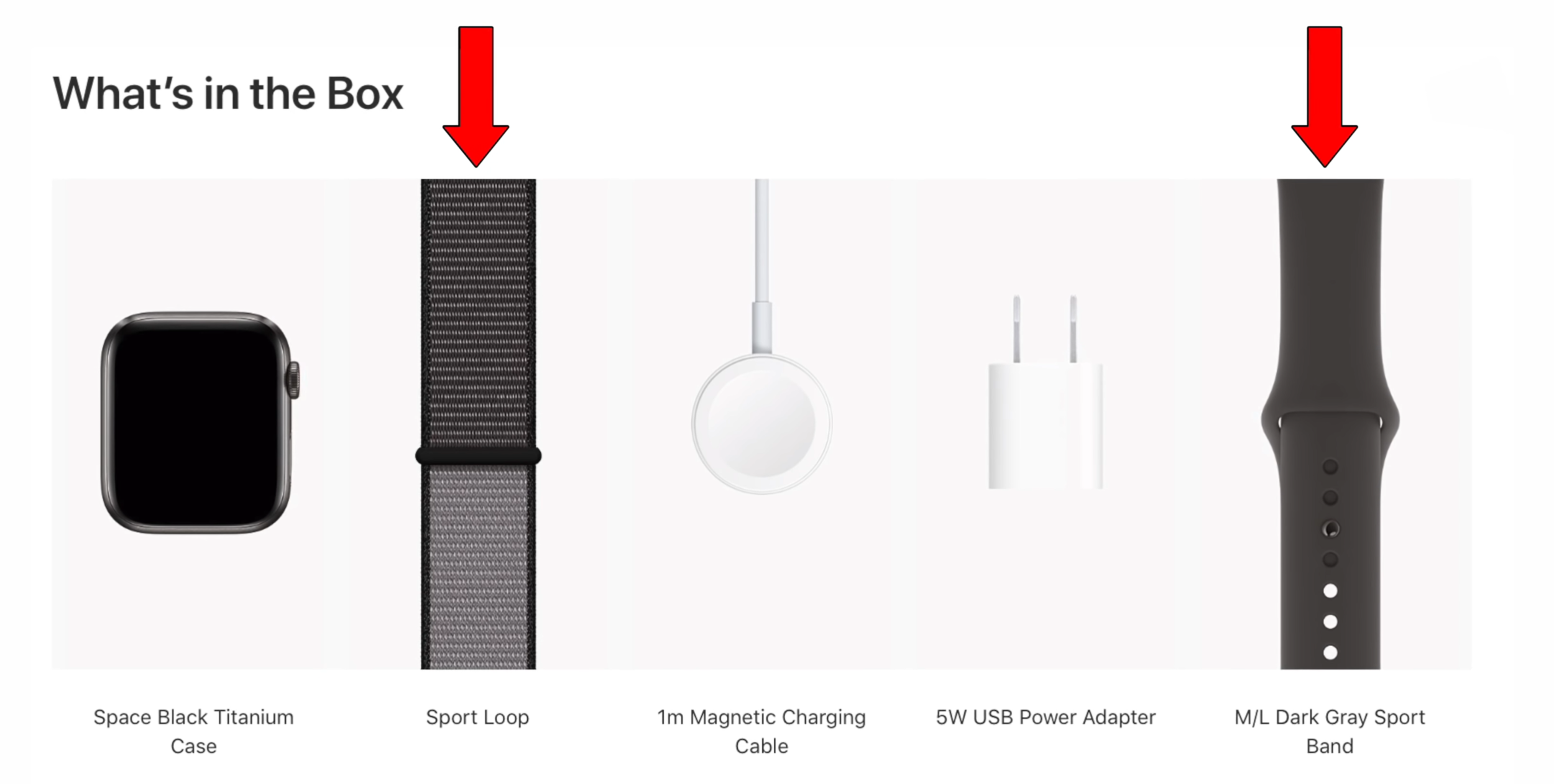 You will now get 2 bands in the box on specific models of the Series 5, the Titanium and Ceramic  (Source: Apple)