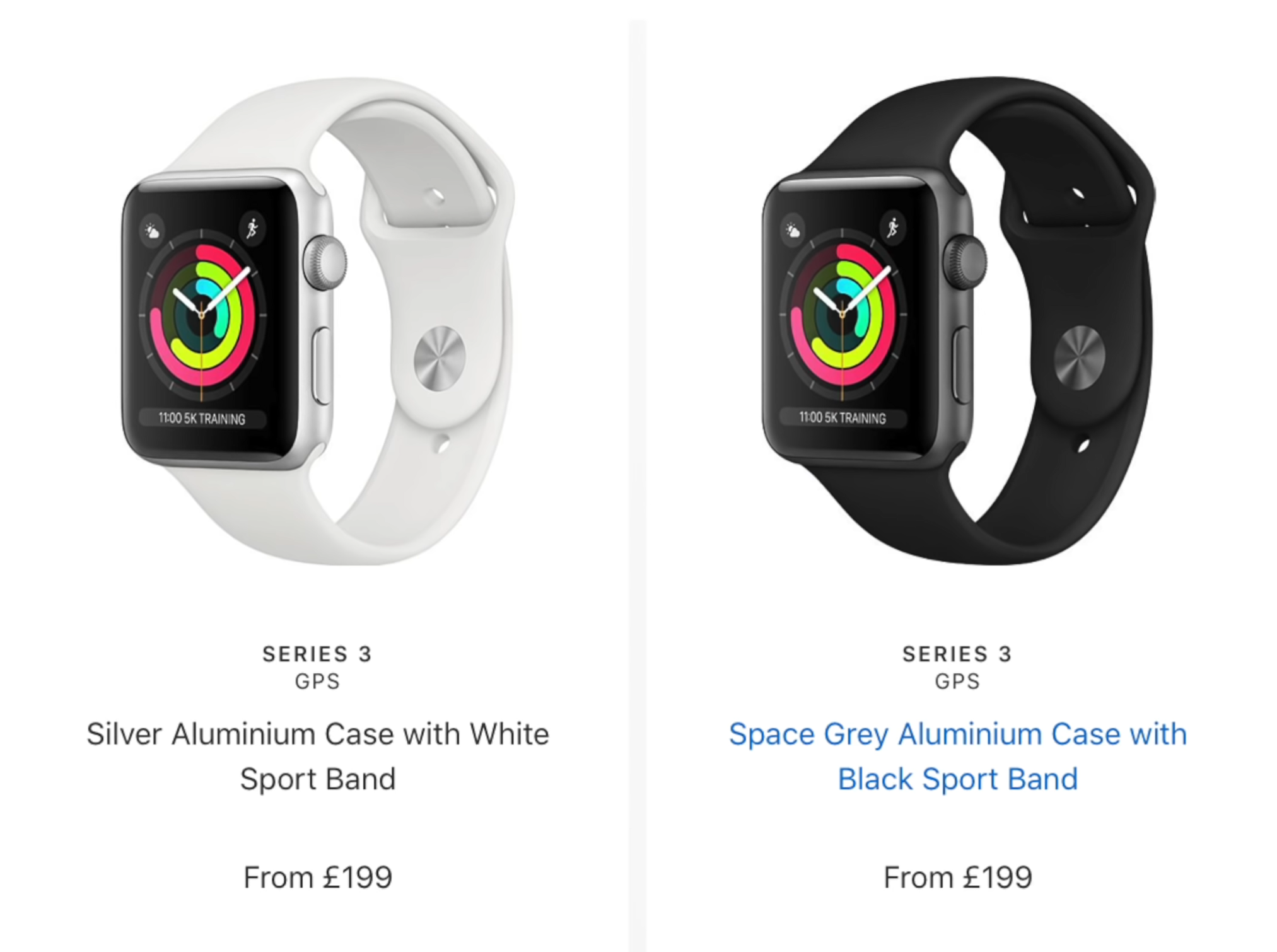 If you're looking for an inexpensive alternative to the Series 5 but with the experience of the Series 5, the Series 3 now starts from $200 (£200) brand new (Source: Apple)