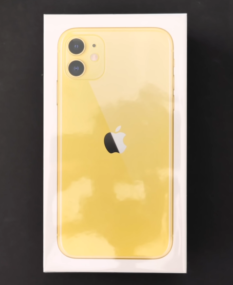 Like previous models, the iPhone 11 comes in a white box, with an image of the phone on the front
