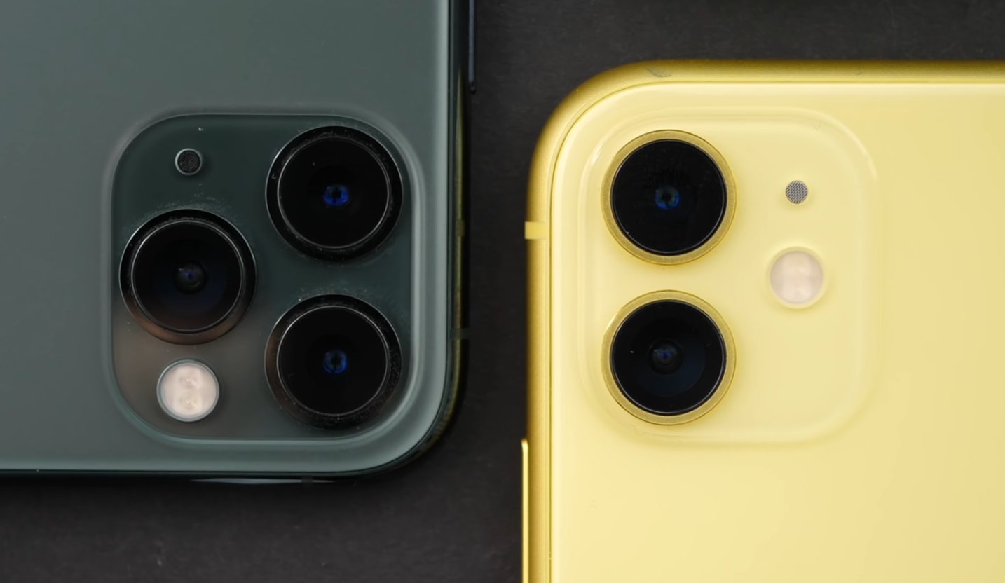 The 11 (Right) is missing the Zoom Module that we get on the Pro's (Right)