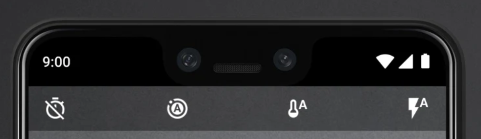 The Pixel 3 introduced a dual front facing camera set up (Source: Google)