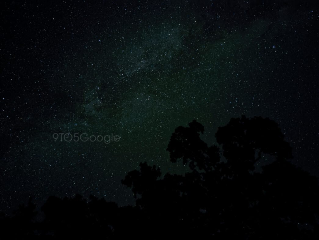 An example image of the Astrophotography from the Pixel 4 (Source: 9to5Google)