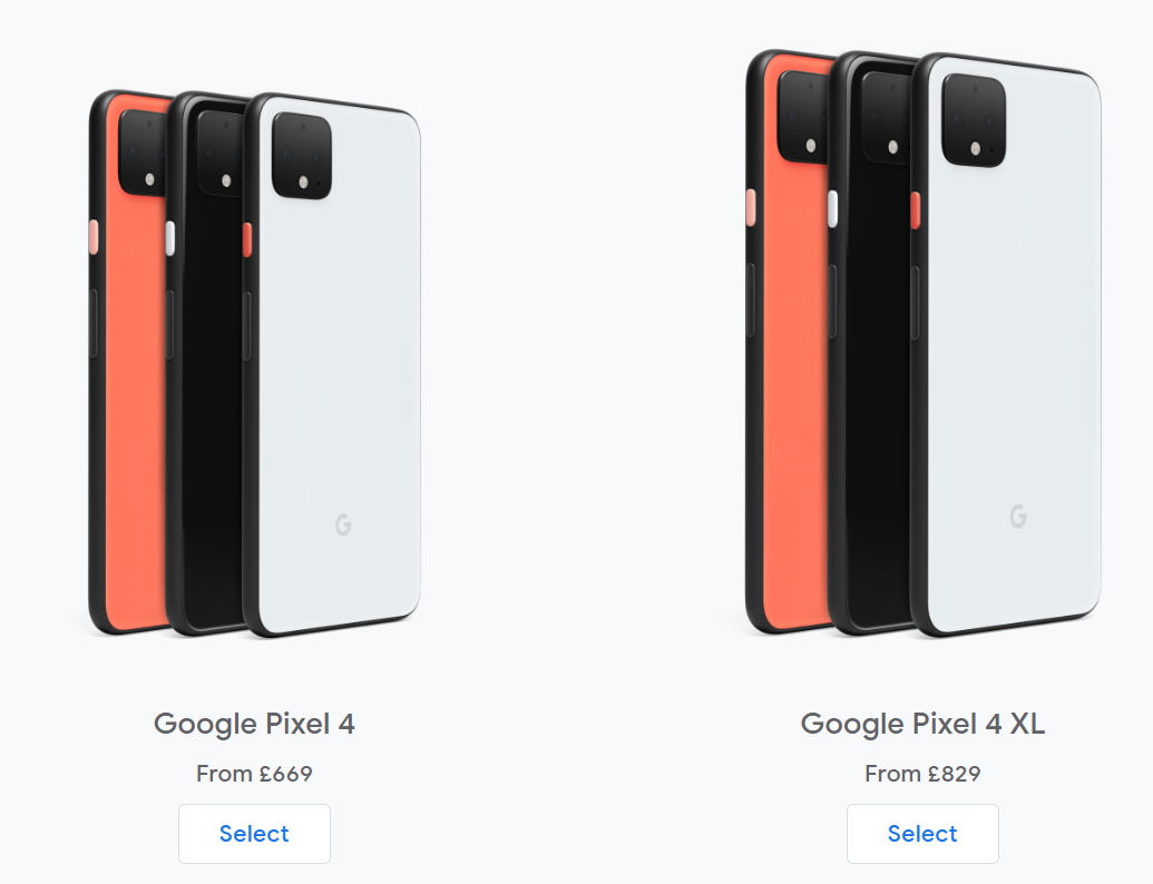 The Pre-Order prices the for 4 and 4XL (Source: Google)
