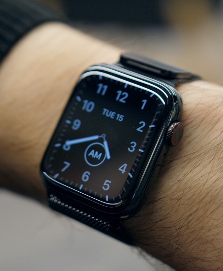 In Always-On mode the clock face with dim and go into a black and white version of your watch face to conserve battery