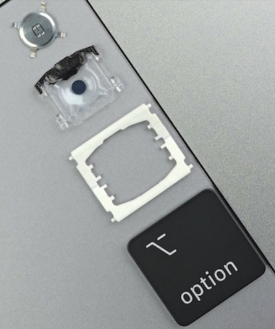 Overtime Apple has attempted to fix the keyboard issues with small upgrades to the keys (Source: iFixit)
