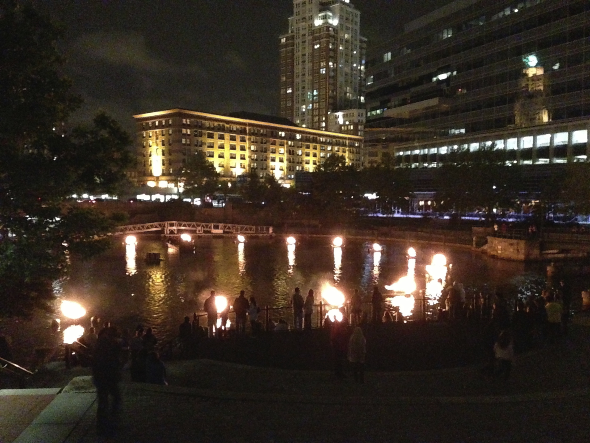 Photo from a typical night at WaterFire