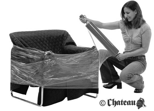 Shrink wrap protects your furniture