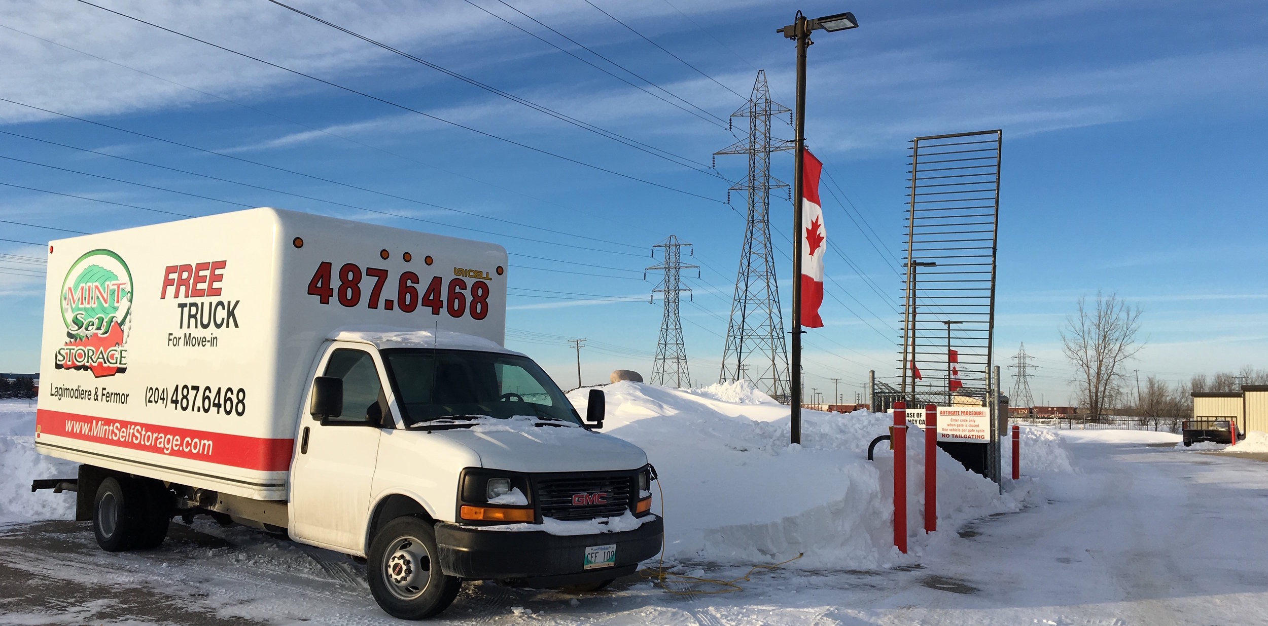 To assist with your moving needs a  FREE rental of 16-foot cube van is available for all Winnipeg self storage customers to move- in.  Simply pay the gas and insurance of $20 and start moving in!