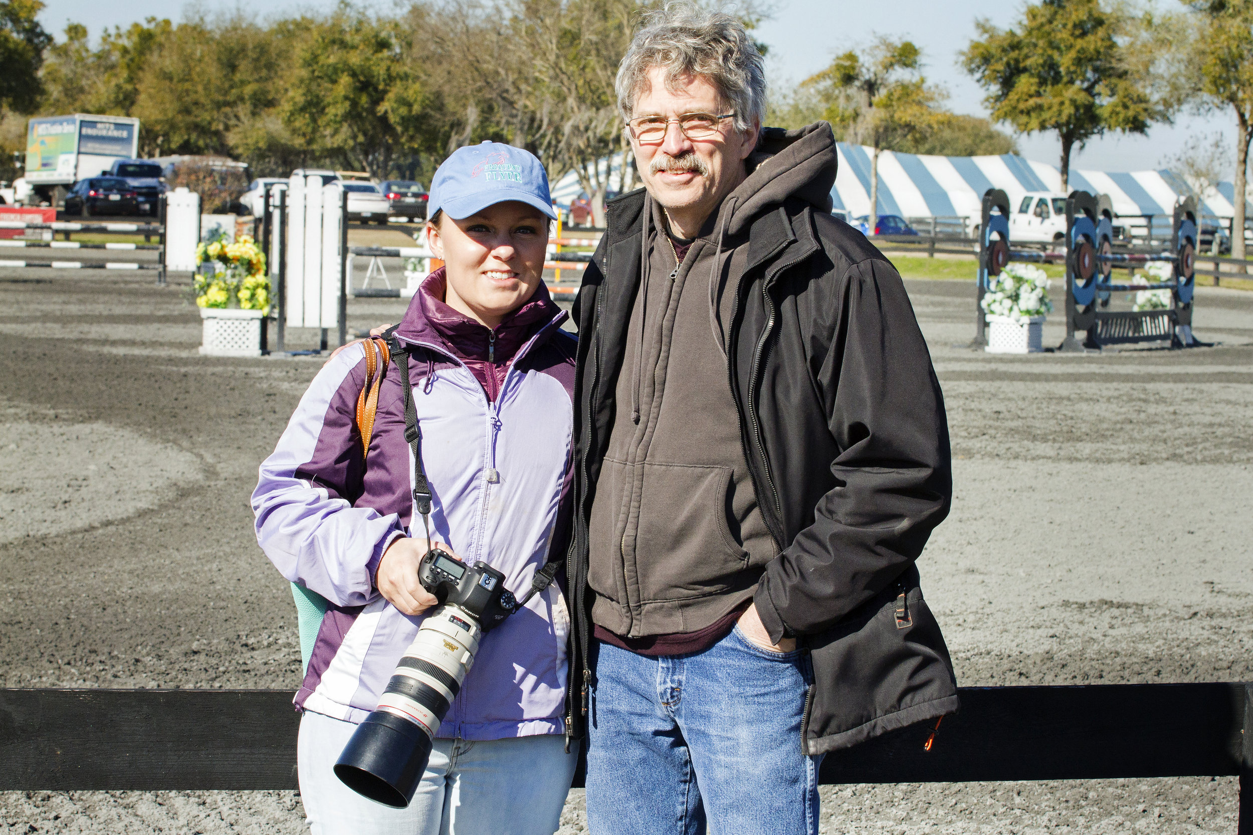 Like father, like daughter - When I started learning how to shoot, my dad would hand me his camera at horse shows. Years later, I take him out to shows and let him play with the fancy new digital cameras.
